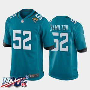 Jacksonville Jaguars DaVon Hamilton Teal Jersey